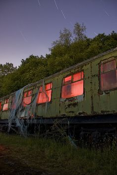 abandon train car.  Oh oh give me your wallet I would love to transform this awesome hunk of rust.