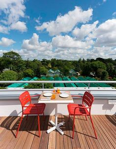 The Molitor Hotel in Paris Centers on a Chic Pool Hotel Paris, Paris Hotels, Outdoor Dining Chairs, Outdoor Furniture Sets, Outdoor Decor, Restaurant Hotel, Stacking Chairs, Architectural Digest, Terrazzo