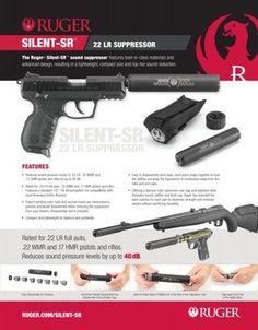 Ruger Announces New Silent-SR Caliber Suppressor Self Defense Weapons, Weapons Guns, Guns And Ammo, Sr 22, Shooting Guns, Shooting Targets, Ar Pistol, Ruger 10/22, Home Defense