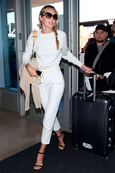 Candice Swanepoel was stunning in an all-white look.   - HarpersBAZAAR.co.uk