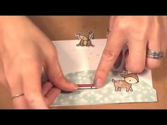 A Simple Way to Blend Pencil Crayons - Lawn Fawn Toboggan Together Stamp...