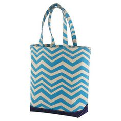 Hamptons weekend - chevron tote $31