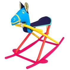 Calypso Rocking Horse by Hoohobbers, The only rocking horse to win the juvenile industry's Best Design Award, our rocking horses fold for easy carrying and compact storage. Baby Rocking Horse, Wooden Rocker, Babies R Us, Baby Room Decor, Design Awards, Kids Playing, Furniture Decor, New Baby Products, Plush