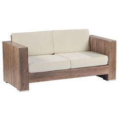 Salon bas de jardin Campagne, 1 table basse, 2 fauteuils, 1 canapé