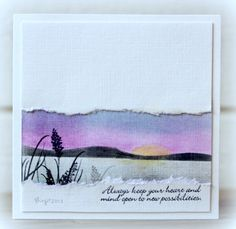 """The challenge on CASology´s blog this week is """"Silhouette""""! Here´s my card where I used the sweet """"Wildflowers"""" from Technique Tuesda..."""
