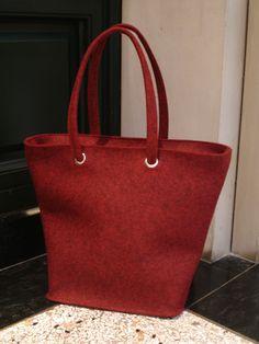 LadyShopper aus rotmeliertem Wollfilz