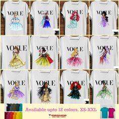 Women's Disney Vogue Princess Shirt. Available for men & ladies. upto 12 colors. XS-2XL. #etsy #disney #disneyprincess #tshirt #streetstyle #tumblrshirt #tumblrtee #etsyshop #etsylove #etsyfinds #girlpower #girl #girlweekend
