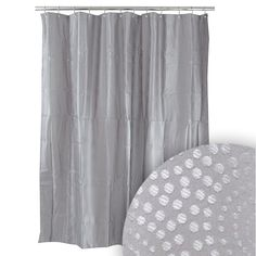 Harman Doma Grey Shower Curtain Pink Tiles, Grey Tiles, Black Shower Curtains, New Homes, Flooring, House, Bathroom, Color, Home Decor