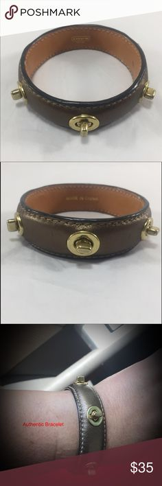 Authentic Coach bracelet This is a metallic bronze authentic coach bracelet with gold hardware. I great condition. Coach Jewelry Bracelets