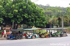 tuk tuk en Ao Nang (Krabi)  Todas nuestras aventuras viajeras en www.worlding8.com