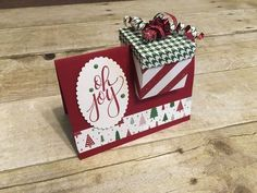 Gift box in a card: dimensions, tips, and video tutorial by Jill Olsen, aka Stamping Jill ~ such a cute idea!
