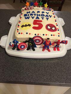 Superhero cake Wyatt's 5th birthday