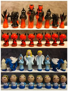 polymer clay chess set   Custom Chess Pieces - Little People