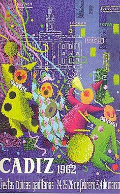Cartel Carnaval de Cadiz año 1962
