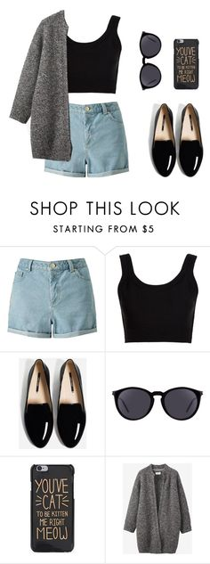 """""""Simple day"""" by kaca-miand-lune on Polyvore featuring moda, Miss Selfridge, Calvin Klein Collection, Yves Saint Laurent, Toast, simple, like e follow"""