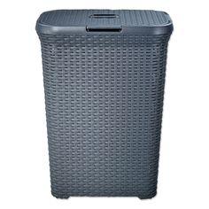 Curver Wasmand Style Grijs 60 liter   Blokker Home Decor, Style, Action, Bathroom, Design, Products, Swag, Washroom, Group Action