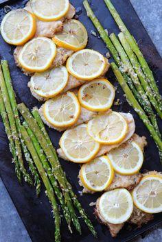 Sitruunakanaa ja parsaa
