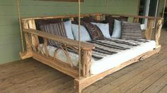 Awesome Porch Swing Bed - http://www.dailyarchdesign.com/architecture/awesome-porch-swing-bed/