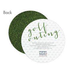 Golf outing invitation idea! Works for both a corporate and social event