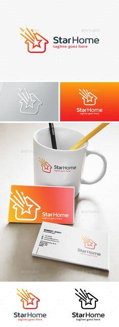 Star House Logo Template #design #logotype Download: http://graphicriver.net/item/star-house-logo/13923394?ref=ksioks