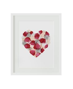 Gorgeous print created by hand with ink and then turned into a sweet print to hang on your wall. Frame it or use a bit of sweet washi tape to tape it up. Frame It, Gift Store, Heart Print, Love Heart, Washi, Ink, Create, Pears, Tape