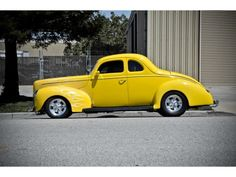 1940 Ford Coupe Yellow With Ghost Flames <3!