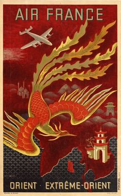 Art Deco travel poster for the Far East