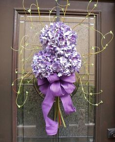Hydrangea Wreaths Summer Wreaths Hydrangea Bouquet by LuxeWreaths