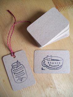 hairy brown kraft MINI business cards - 50pc. $4.50, via Etsy.
