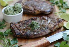 Grilled Ribeye Steak with Cilantro Lime Chimichurri {Whole30}