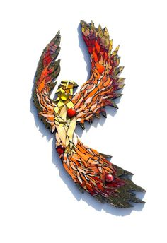 Check out this item in my Etsy shop https://www.etsy.com/listing/263436968/phoenix-mosaic-art-mixed-media-fantasy