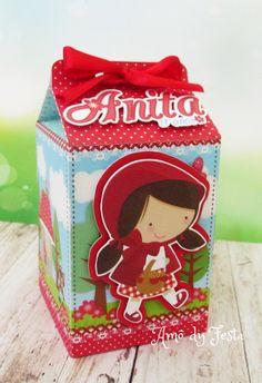 Caixa Milk personalizada com tema chapeuzinho vermelho    Impresso em papel offset 240g , enviamos semi montadas para não danificar no transporte