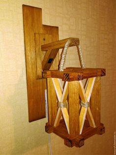 Светильник - Фонарь - купить или заказать в интернет-магазине на Ярмарке Мастеров | Настенный светильник-ночник. Выполнен из массива…