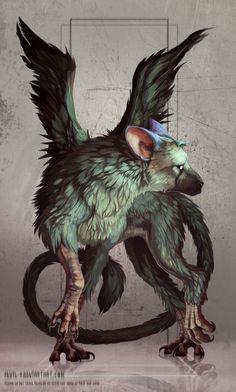 - The Last Guardian por Sevil-viantar . em Trico - The Last Guardian por Sevil-viantar . em Trico - The Last Guardian por Sevil-viantar . Mythical Creatures Art, Mythological Creatures, Magical Creatures, Creature Concept Art, Creature Design, Creature Drawings, Animal Drawings, Wolf Drawings, Fantasy Beasts