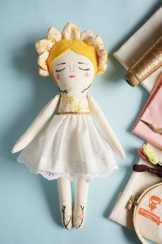 Muñeca de tela floral niña flor muñeco hecho a por MandarinasDeTela
