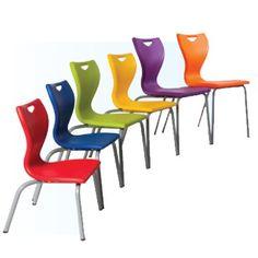 EN11 - Classroom 4 Leg Chair with Chrome Frame