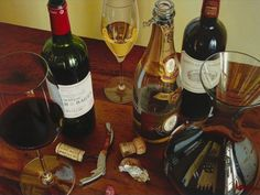 "Thomas Arvid wine art, ""Life's Pleasures"" limited edition print on canvas at Art Leaders Gallery. Browse Thomas Arvid's complete collection online: artleaders.com 