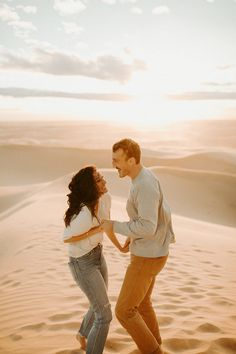 Imperial Sand Dunes Engagement — Bend Wedding Photographer - Dawn Charles