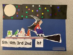 We completed this wonderful 'Room on the Broom' activity on Monday to help us learn ordinal number. I saw the idea from @miss_welsfords_wonderland who was inspired by @missfrasersclassroom Thanks for sharing ladies! My kids loved completing this activity and they will look great displayed in our classroom. Character images are from Sparklebox. Eyfs Activities, Halloween Activities, Halloween Crafts, Hands On Activities, Halloween Themes, Book Activities, Construction Theme Classroom, Ordinal Numbers, Room On The Broom
