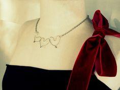 WobiSobi: Three Heart Neacklace. DIY