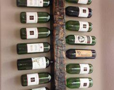 Wood Wine Rack - 24 Bottle Handmade Rustic Wall Mount display
