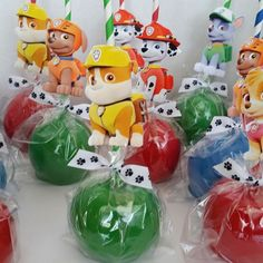 Paw Patrol Candy Apples #pawpatrol #pawpatrolparty #candyapples #birthday #partyideas #partyfavors #houston #pearland #pearlandsweettooth #thanks4yoursupport Paw Patrol Cake, Paw Patrol Party, Paw Patrol Birthday, Party Labels, Party Favors, Birthday Party Decorations, Party Themes, 4th Birthday, Birthday Parties