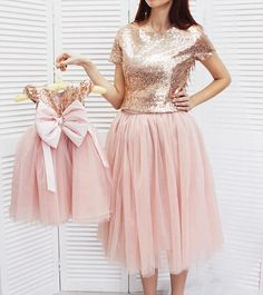 Gold mother daughter matching tutu dress, sequin dresses for Mom and baby, girls party dress, Mommy and Me sequin dresses Matching outfit Mom And Baby Outfits, Mommy And Me Dresses, Mother Daughter Matching Outfits, Mother Daughter Fashion, Toddler Girl Outfits, Birthday Girl Dress, Girls Party Dress, Birthday Dresses, Baby Dress