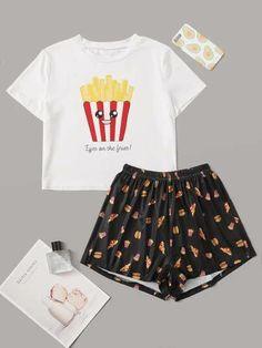 Cute Pajama Sets, Cute Pjs, Cute Pajamas, Pajamas Women, Girls Fashion Clothes, Teen Fashion Outfits, Cute Fashion, Outfits For Teens, Cute Lazy Outfits