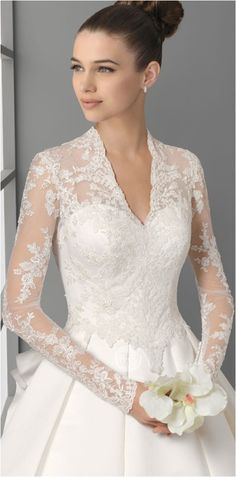 Lace Sleeves Wedding Dresses (100)