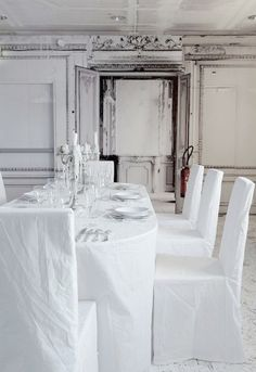 martin margiela white dining room