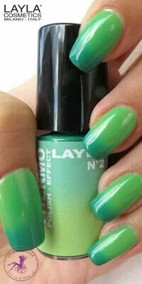 THERMO EFFECT . 02 DARK TO LIGHT GREEN. www.laylacosmetics.ro