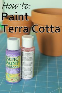 How to Paint on Terra Cotta #patiopaint @Michaels Stores @Hobby Lobby @Amanda Moore @Jo-Ann Fabric and Craft Stores @Home Depot