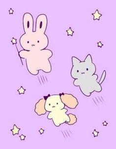 floating kawaii animals >o<