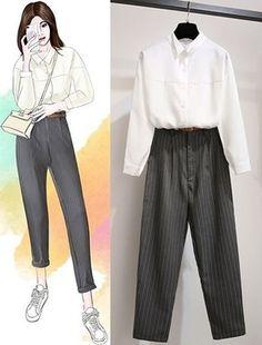 Kpop Fashion Outfits, Ulzzang Fashion, Korean Outfits, Cute Fashion, Casual Outfits, Cute Outfits, Fashion Drawing Dresses, Fashion Illustration Dresses, Fashion Dresses